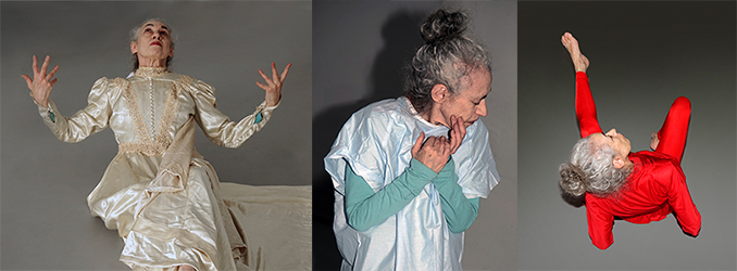 Thre images of Laura Shapiro performing in Last Gasp!